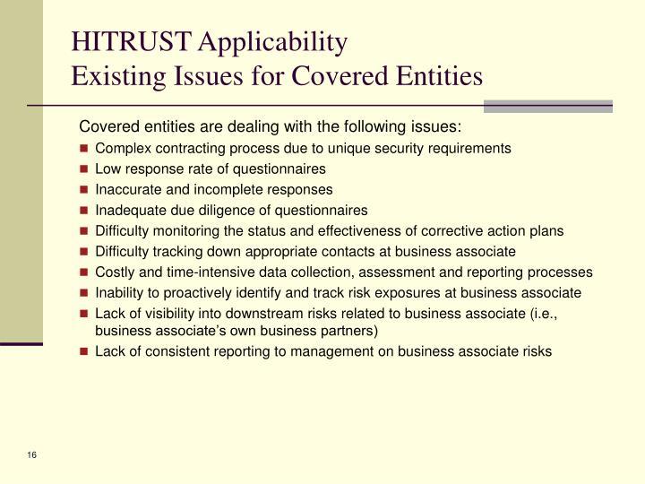 HITRUST Applicability