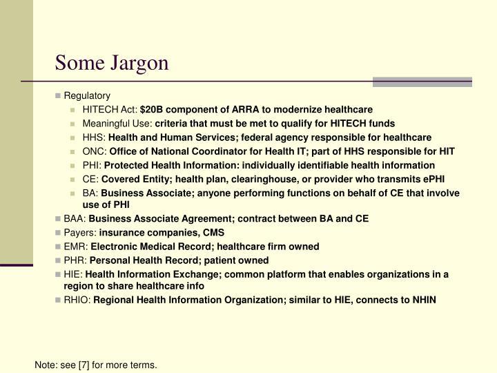 Some Jargon