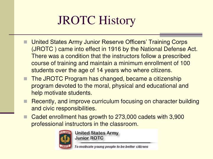 Jrotc history