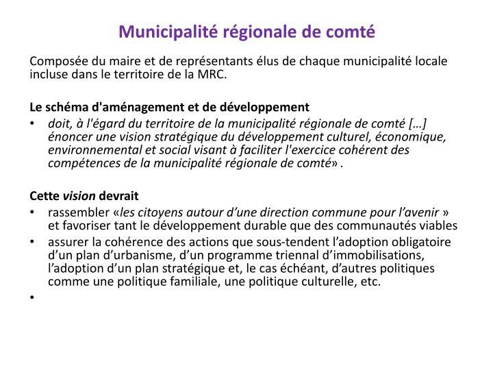 Municipalité régionale de comté
