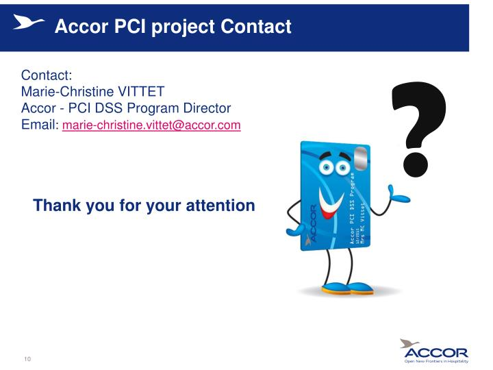 Accor PCI project Contact