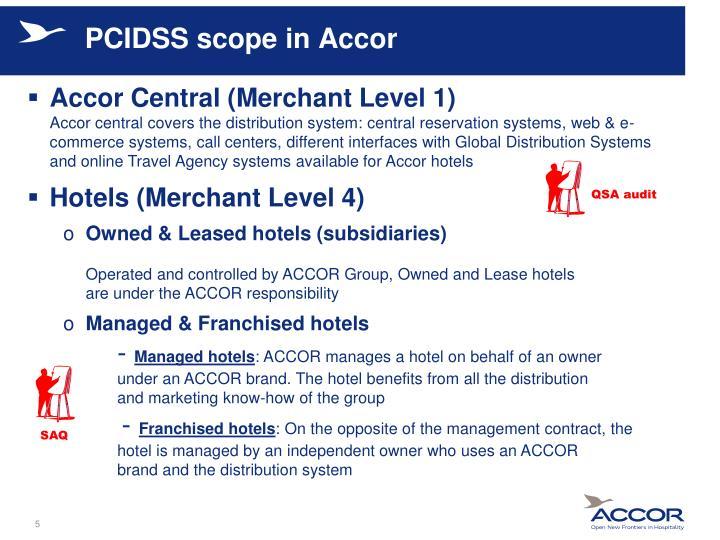 PCIDSS scope in Accor