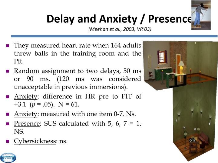 Delay and Anxiety / Presence