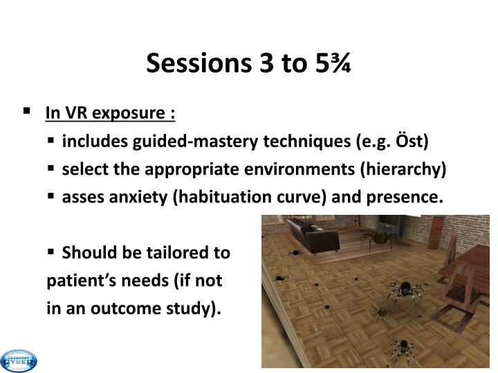 Sessions 3 to 5¾