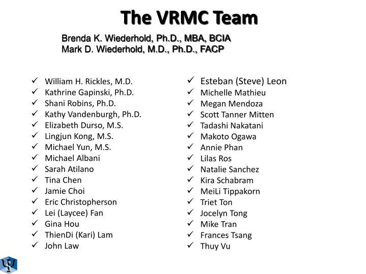 The vrmc team