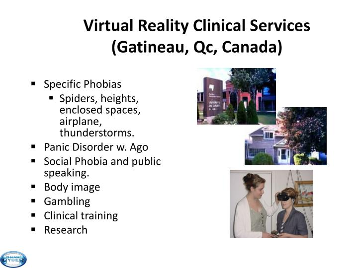 Virtual Reality Clinical Services