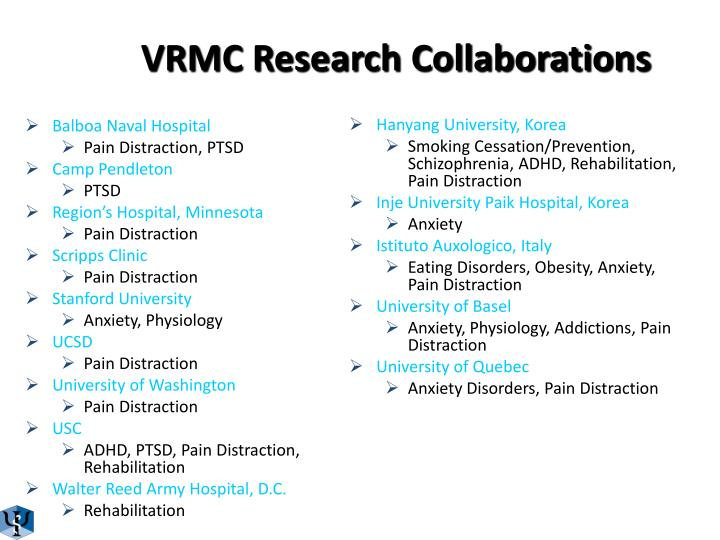 Vrmc research collaborations