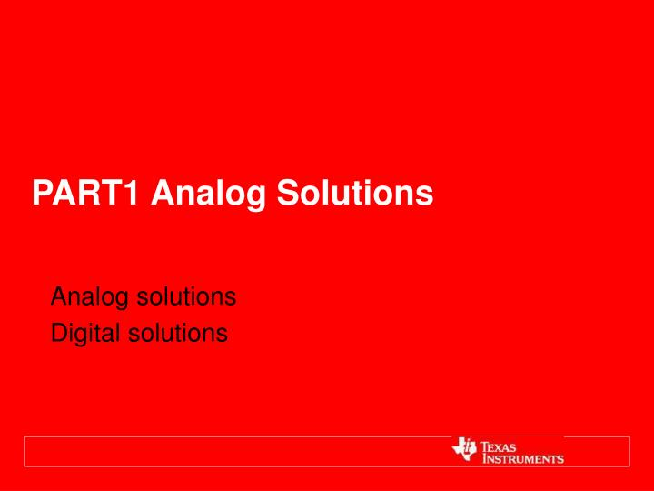 Part1 analog solutions