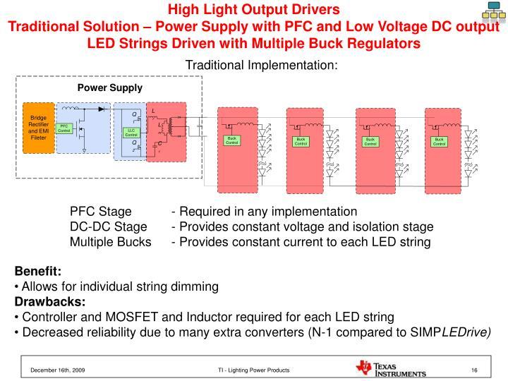 High Light Output Drivers