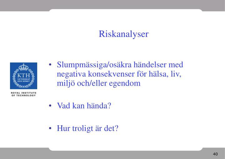 Riskanalyser