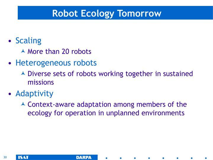 Robot Ecology Tomorrow