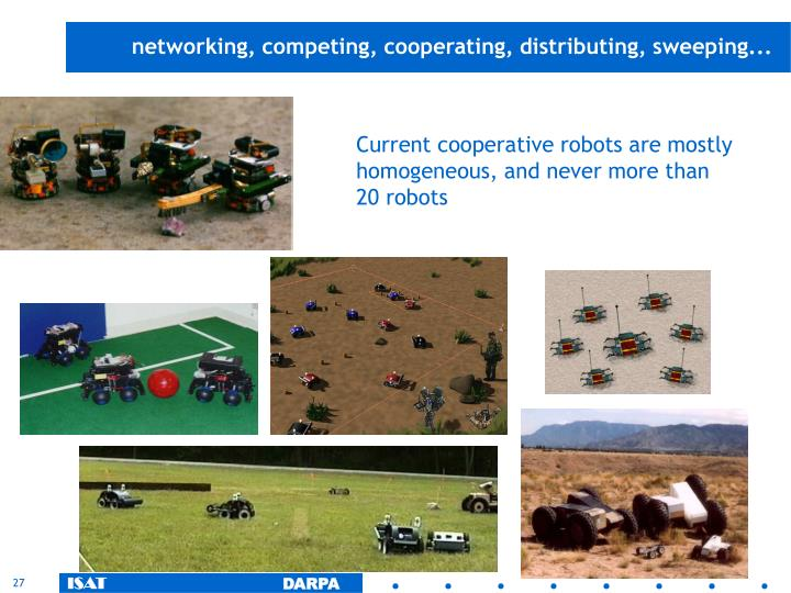networking, competing, cooperating, distributing, sweeping...