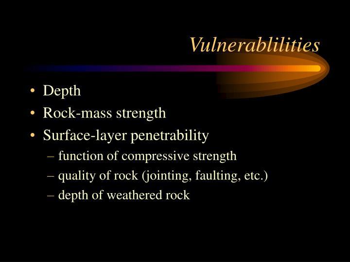 Vulnerablilities