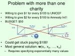 problem with more than one charity