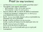 proof for step functions