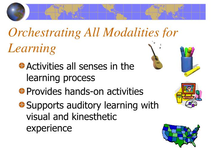 Orchestrating All Modalities for Learning