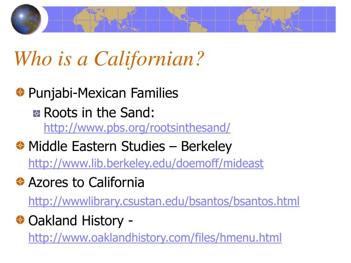 Who is a Californian?