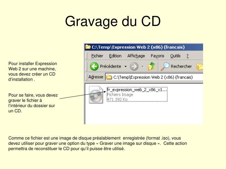 Gravage du CD