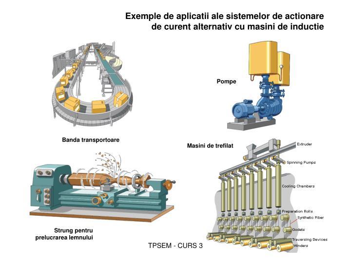 Exemple de aplicatii ale sistemelor de actionare de curent alternativ cu masini de inductie
