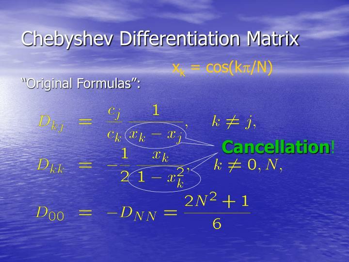 Chebyshev Differentiation Matrix