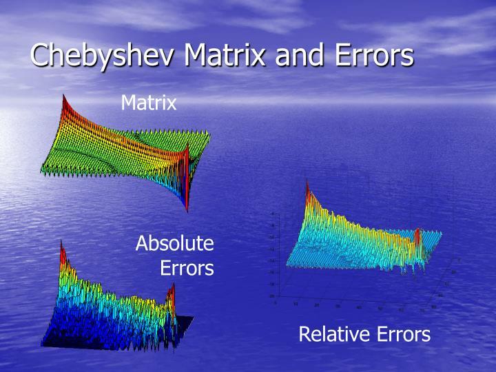 Chebyshev Matrix and Errors