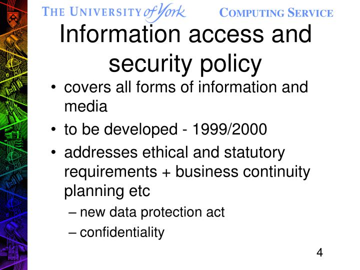 Information access and security policy