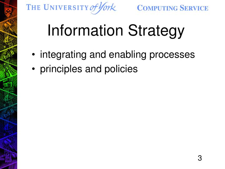 Information strategy1