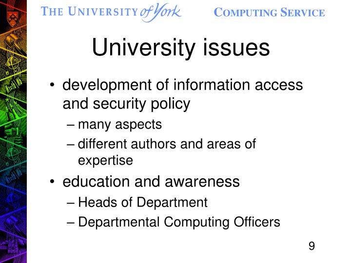 development of information access and security policy