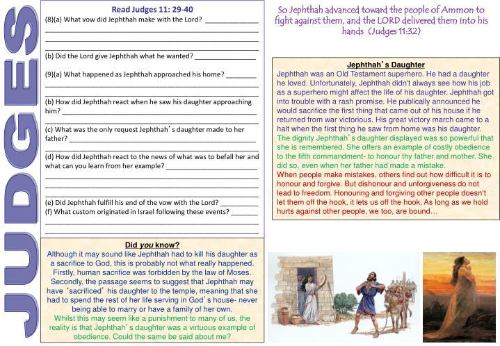 Read Judges 11: 29-40