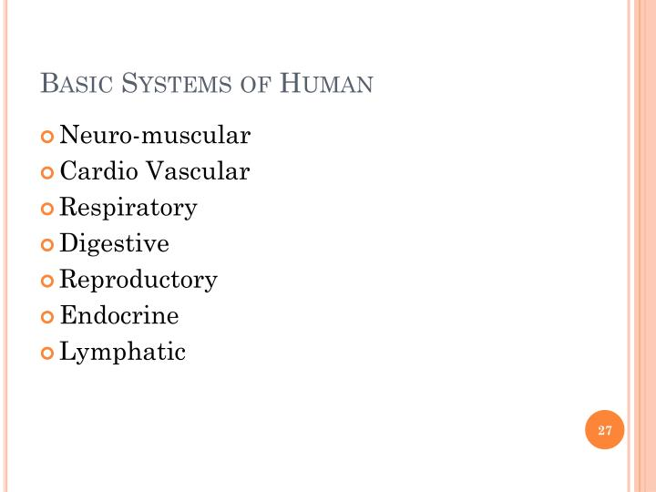 Basic Systems of Human