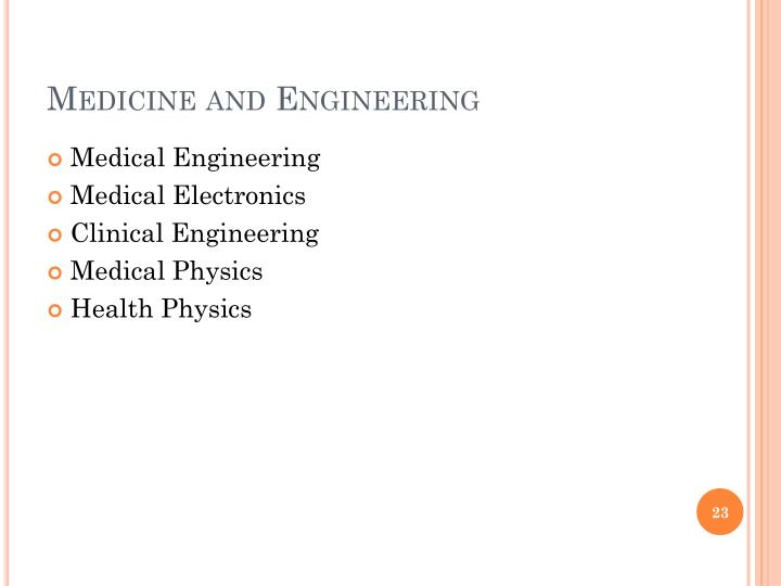 Medicine and Engineering