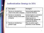 authentication strategy in soa
