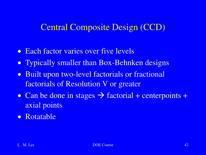 Central Composite Design (CCD)