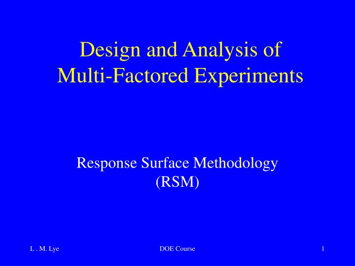 powerpoint of experimental design and analysis