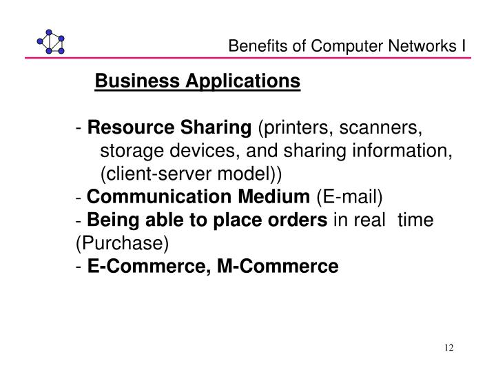 Benefits of Computer Networks I