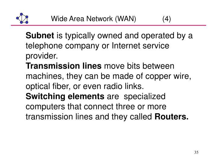 Wide Area Network (WAN)             (4)