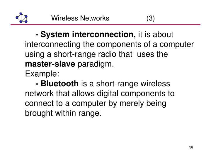Wireless Networks                   (3)