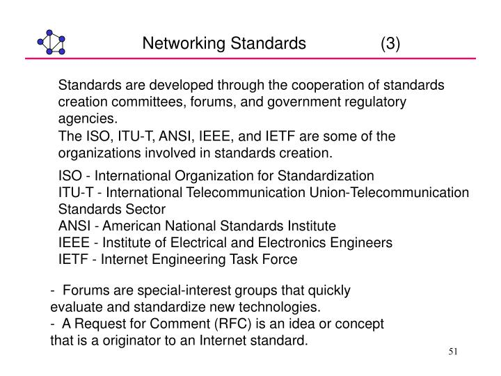 Networking Standards                (3)