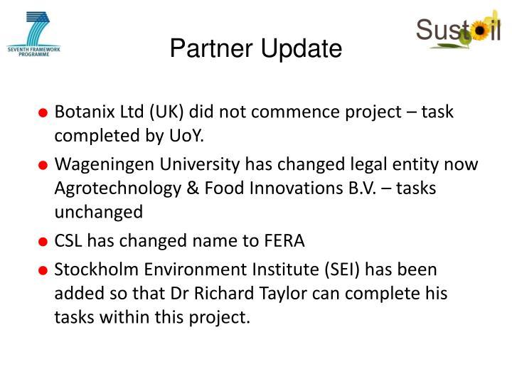 Partner Update