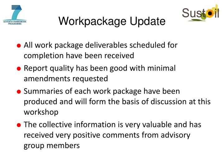 Workpackage Update