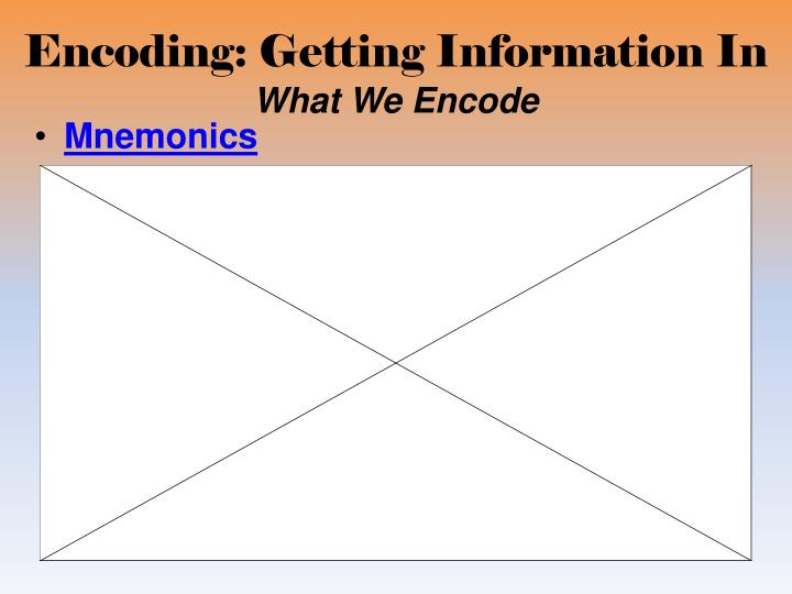 Encoding: Getting Information In