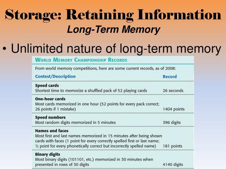 Storage: Retaining Information