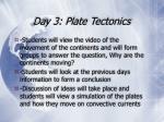 day 3 plate tectonics