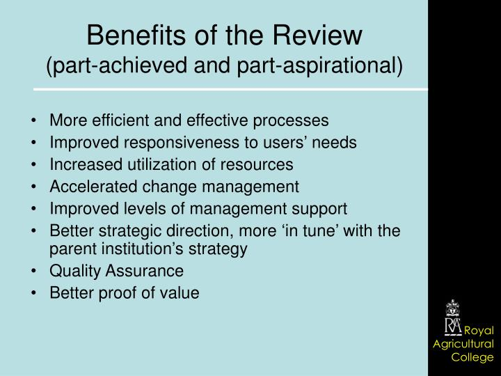 More efficient and effective processes