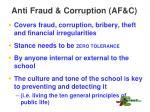 anti fraud corruption af c