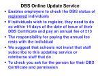 dbs online update service