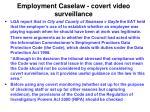 employment caselaw covert video surveillance