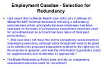 employment caselaw selection for redundancy