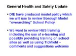 general health and safety update