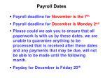 payroll dates